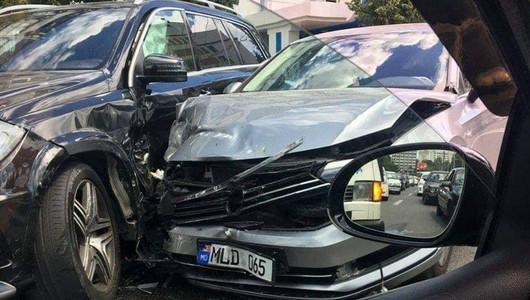 Veaceslav Platon a fost implicat într-un accident rutier în Capitală