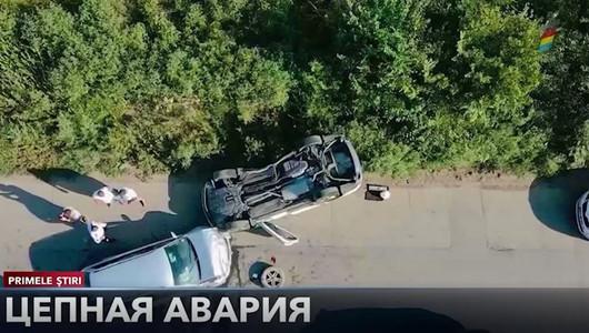Цепная авария произошла на трассе Кишинев — Унгены