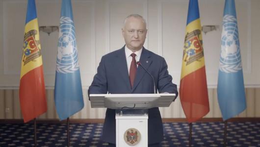 Discursul lui Igor Dodon la ONU: În viitorul nostru comun nimeni nu va fi lăsat în umbră