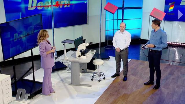 Exclusiv! În platoul emisiunii Doctorii, Sergiu Armașu a testat la microscop o picătură de sânge