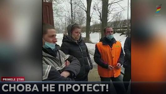 На Севере Молдовы железнодорожники вчера снова вышли на протесты