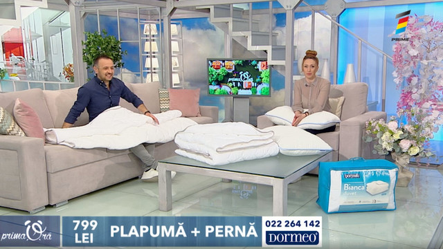 Oferta Zilei, la Prima Oră: Plapumă Bianca și pernă Siena