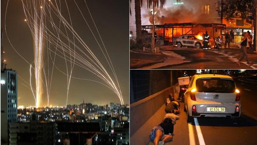 Imagini apocaliptice în Orientul Mijlociu! Fâșia Gaza a lansat o ploaie de rachete peste Israel, care a ripostat la fel de violent