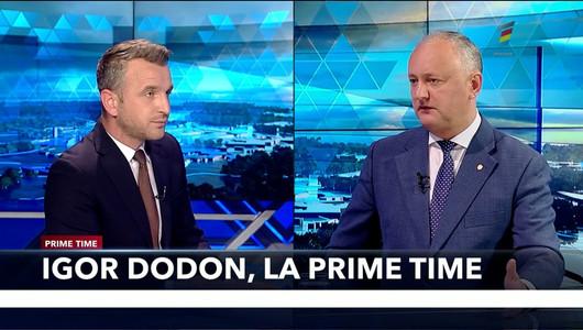 Igor Dodon, președintele PSRM, invitat la PRIME TIME, proiect marca