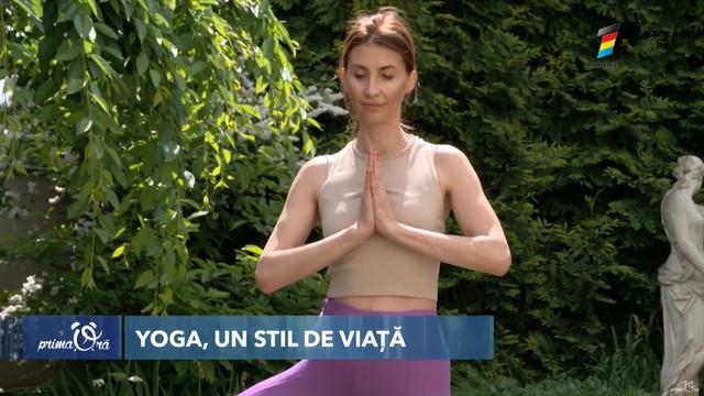 Lucia Berdos, pasionată de yoga, sportul care îi oferă o serie de beneficii pentru sănătate