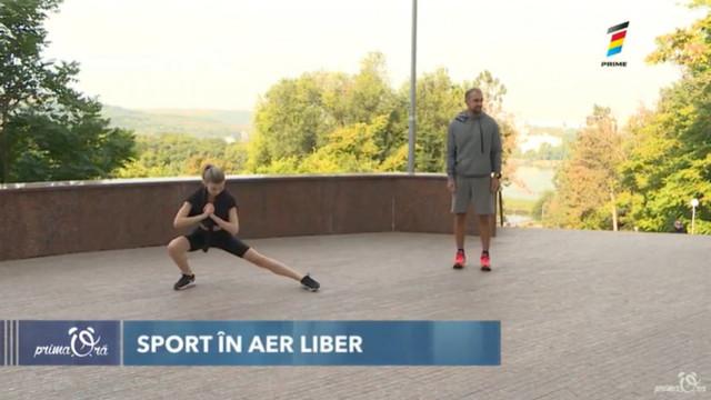 Sport în aer liber cu modelul Dorina Darii