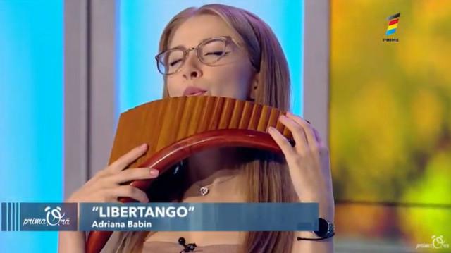 """Libertango"". Adriana Babin, interpretare la nai"