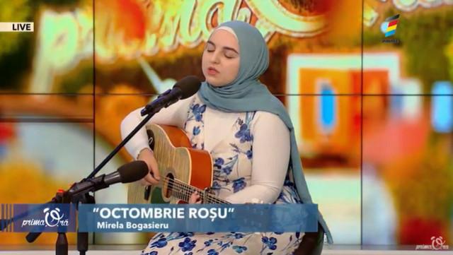 """Interpretare LIVE la Prima Oră. Mirela Bogasieru - """"Octombrie Roșu"""""""