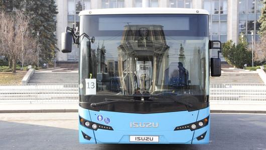 Сегодня, в День города, на маршруты вышли 9 новых автобусов марки ISUZU