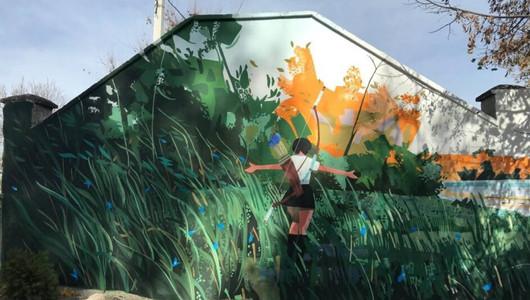 Молдавские и польские художники украсили Страшены четырьми муралами